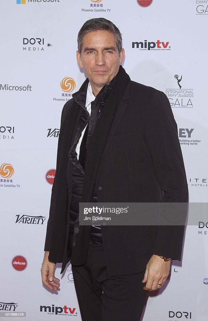 Actor Jim Caviezel attends the 41st International Emmy Awards at the Hilton New York on November 25, 2013 in New York City.