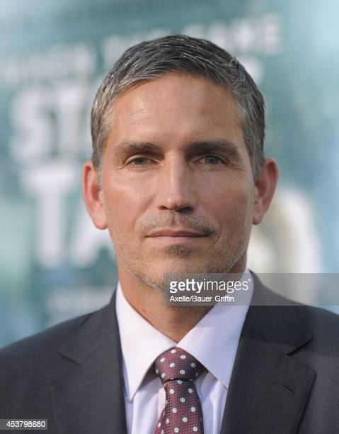 Actor Jim Caviezel attends the Los Angeles premiere of 'When The Game Stands Tall' at ArcLight Hollywood on August 4 2014 in Hollywood California