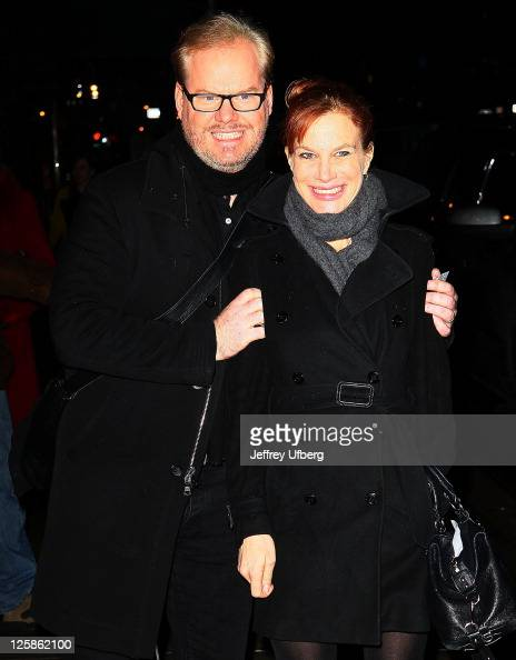 Actor Jim Gaffigan and wife...