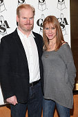 Actor Jim Gaffigan and wife Jeannie Gaffigan attend the Casting Society of America's 26th Annual Artios Awards at American Airlines Theatre on...