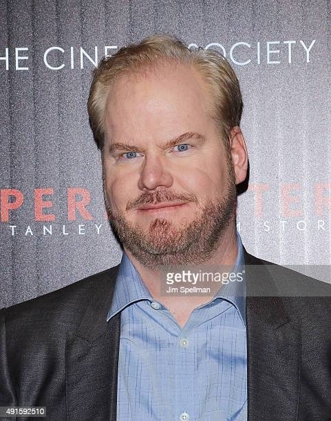 Actor Jim Gaffigan attends Montblanc The Cinema Society host a party for The New York Film Festival premiere of Magnolia Pictures' 'Experimenter' at...