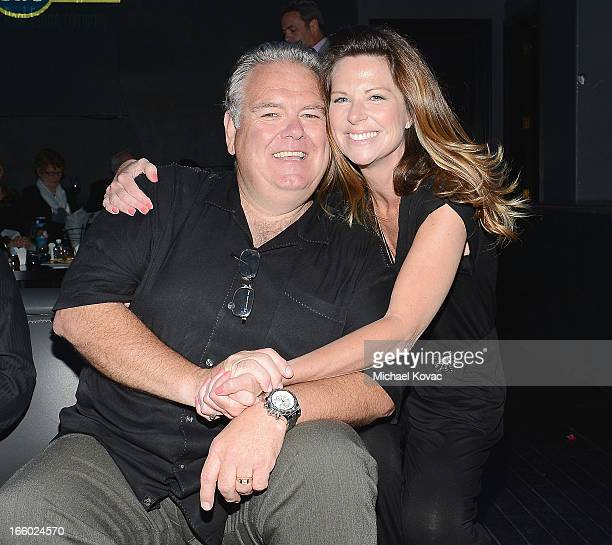 Actor Jim O'Heir and actress Mo Collins attend the Tuberous Sclerosis Alliance Comedy For A Cure 2013 at Lure on April 7 2013 in Hollywood California