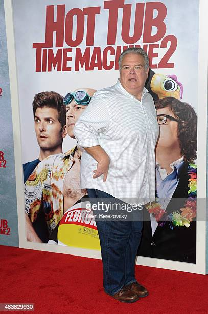 Actor Jim O'Heir arrives at the Los Angeles premiere of 'Hot Tub Time Machine 2' at Regency Village Theatre on February 18 2015 in Westwood California