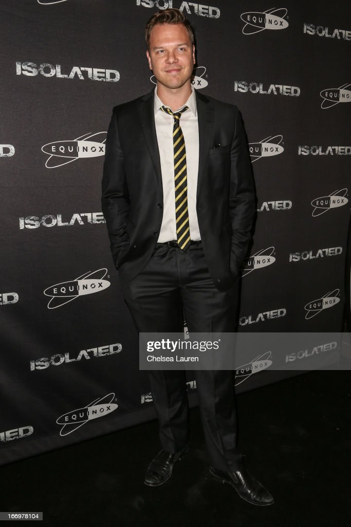 Actor <a gi-track='captionPersonalityLinkClicked' href=/galleries/search?phrase=Jim+Parrack&family=editorial&specificpeople=2081061 ng-click='$event.stopPropagation()'>Jim Parrack</a> arrives at the premiere of 'Isolated' at Equinox Sports Club West LA on April 18, 2013 in Los Angeles, California.