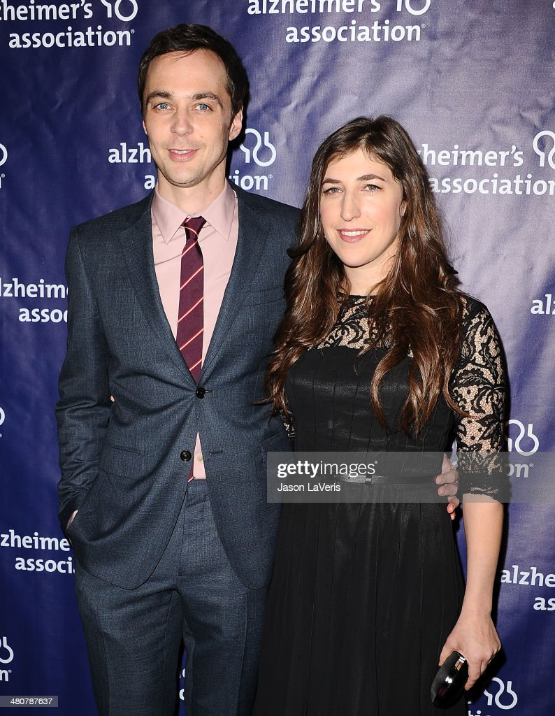Actor Jim Parsons and actress Mayim Bialik attend the 22nd 'A Night At Sardi's' at The Beverly Hilton Hotel on March 26, 2014 in Beverly Hills, California.