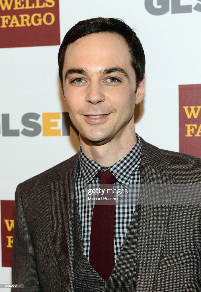 Actor <a gi-track='captionPersonalityLinkClicked' href=/galleries/search?phrase=Jim+Parsons&family=editorial&specificpeople=2480791 ng-click='$event.stopPropagation()'>Jim Parsons</a> arrives at the 8th Annual GLSEN Respect Awards held at Beverly Hills Hotel on October 5, 2012 in Beverly Hills, California.