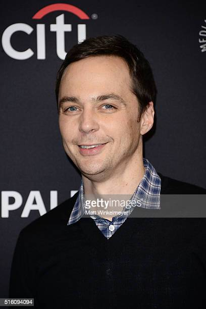 Actor Jim Parsons arrives at The Paley Center For Media's 33rd Annual PALEYFEST Los Angeles 'The Big Bang Theory' at Dolby Theatre on March 16 2016...