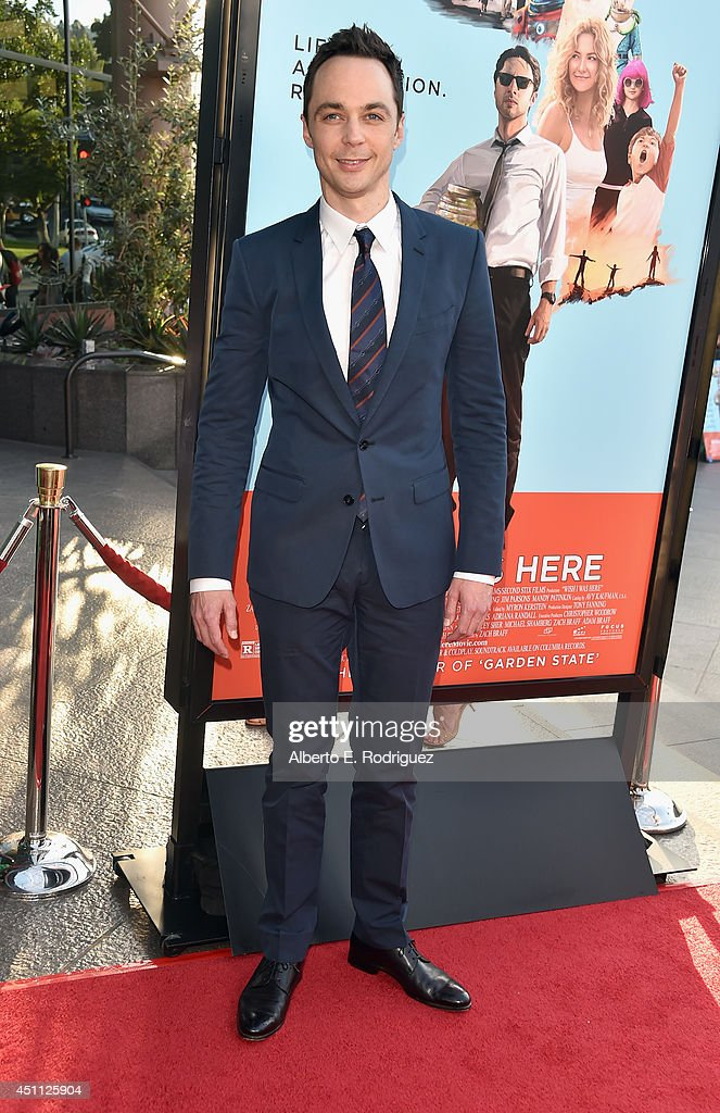 Actor <a gi-track='captionPersonalityLinkClicked' href=/galleries/search?phrase=Jim+Parsons&family=editorial&specificpeople=2480791 ng-click='$event.stopPropagation()'>Jim Parsons</a> attend the premiere of Focus Features' 'Wish I Was Here' at DGA Theater on June 23, 2014 in Los Angeles, California.