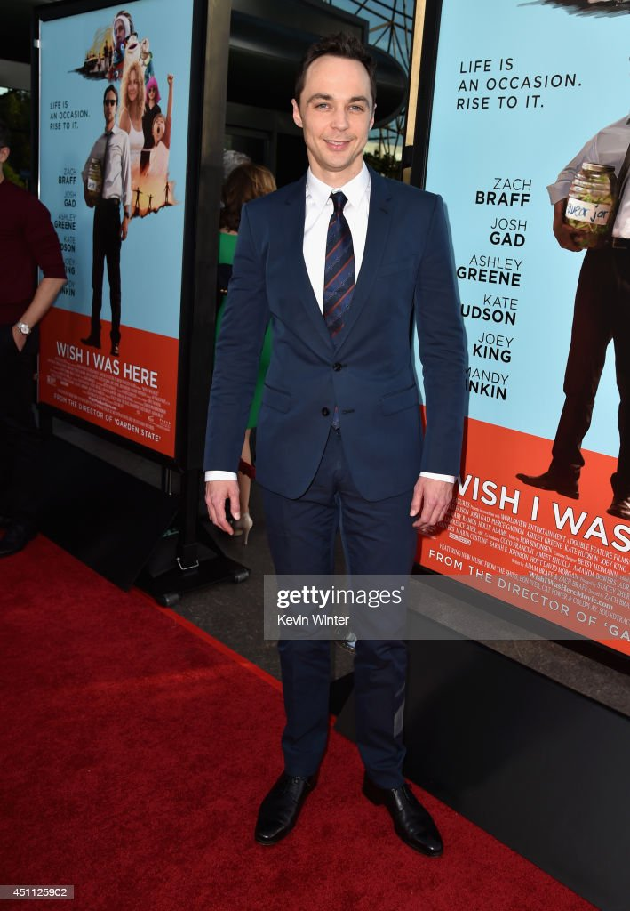Actor <a gi-track='captionPersonalityLinkClicked' href=/galleries/search?phrase=Jim+Parsons&family=editorial&specificpeople=2480791 ng-click='$event.stopPropagation()'>Jim Parsons</a> attends Focus Features' 'Wish I Was Here' premiere at DGA Theater on June 23, 2014 in Los Angeles, California.