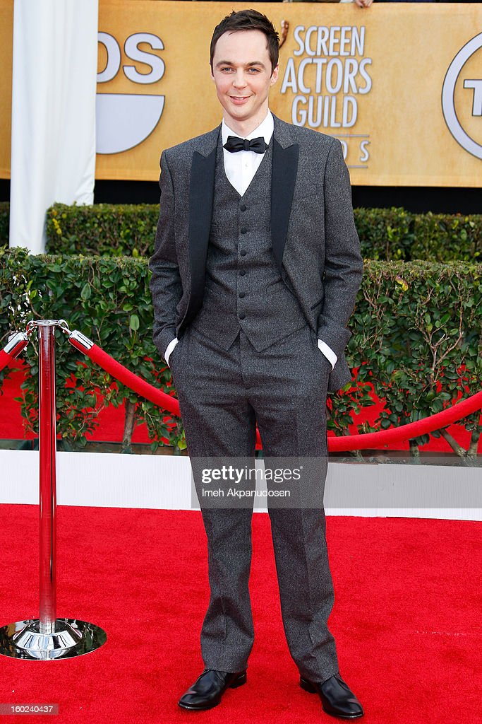 Actor Jim Parsons attends the 19th Annual Screen Actors Guild Awards at The Shrine Auditorium on January 27, 2013 in Los Angeles, California.