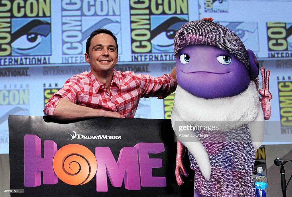 Actor <a gi-track='captionPersonalityLinkClicked' href=/galleries/search?phrase=Jim+Parsons&family=editorial&specificpeople=2480791 ng-click='$event.stopPropagation()'>Jim Parsons</a> attends the DreamWorks Animation presentation during Comic-Con International 2014 at the San Diego Convention Center on July 24, 2014 in San Diego, California.