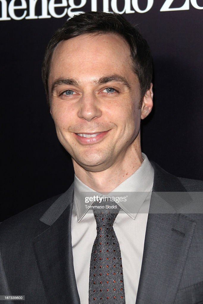 Actor <a gi-track='captionPersonalityLinkClicked' href=/galleries/search?phrase=Jim+Parsons&family=editorial&specificpeople=2480791 ng-click='$event.stopPropagation()'>Jim Parsons</a> attends the Ermenegildo Zegna boutique Rodeo Drive grand opening held at Ermenegildo Zegna Boutique on November 7, 2013 in Beverly Hills, California.