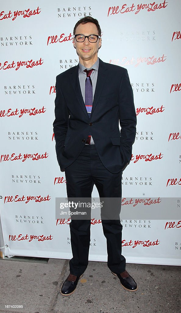 Actor <a gi-track='captionPersonalityLinkClicked' href=/galleries/search?phrase=Jim+Parsons&family=editorial&specificpeople=2480791 ng-click='$event.stopPropagation()'>Jim Parsons</a> attends the 'I'll Eat You Last' Broadway Opening Night at the Booth Theatre on April 24, 2013 in New York City.