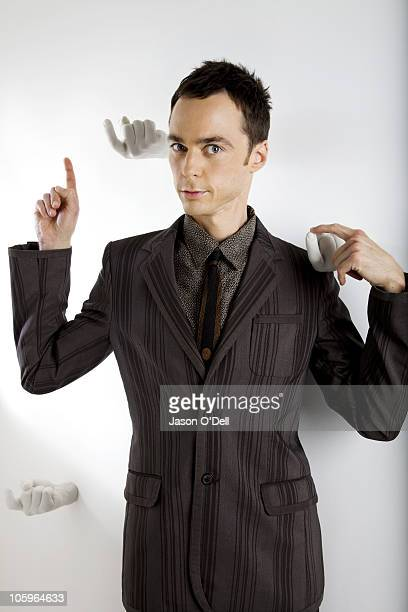 Actor Jim Parsons of The Big Bang Theory poses at a portrait session for TV Guide on August 25 Los Angeles California