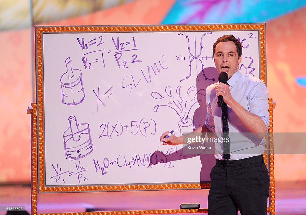 Actor <a gi-track='captionPersonalityLinkClicked' href=/galleries/search?phrase=Jim+Parsons&family=editorial&specificpeople=2480791 ng-click='$event.stopPropagation()'>Jim Parsons</a> onstage during Nickelodeon's 27th Annual Kids' Choice Awards held at USC Galen Center on March 29, 2014 in Los Angeles, California.