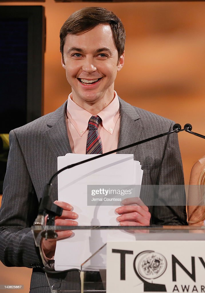 Actor <a gi-track='captionPersonalityLinkClicked' href=/galleries/search?phrase=Jim+Parsons&family=editorial&specificpeople=2480791 ng-click='$event.stopPropagation()'>Jim Parsons</a> presents the 2012 Tony Awards Nominations Announcement at The New York Public Library for Performing Arts on May 1, 2012 in New York City.