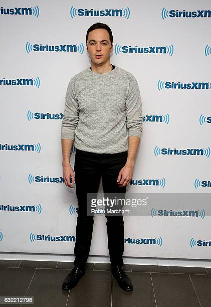 Actor Jim Parsons visits New York for the premiere of his weekly talk show 'Jim Parsons is Too Stupid for Politics' exclusively on SiriusXM Radio...