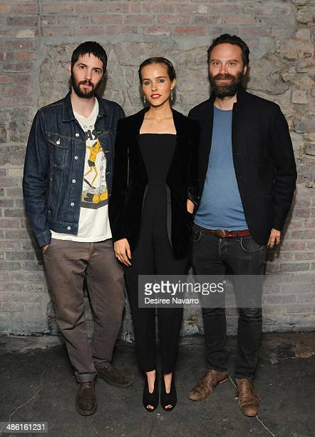 Actor Jim Sturgess Actress/Model Isabel Lucas and Director Tristan Patterson attend the 'Electric Slide' Premiere during the 2014 Tribeca Film...
