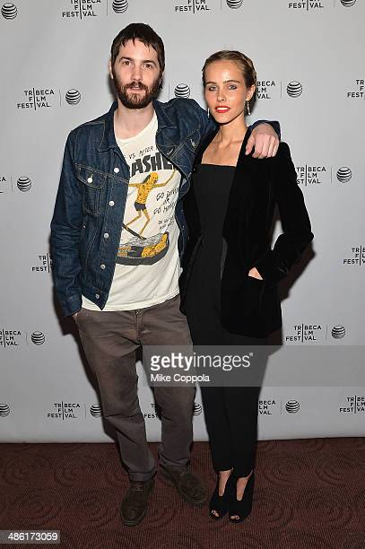 Actor Jim Sturgess and Actress/Model Isabel Lucas attend the 'Electric Slide' Premiere during the 2014 Tribeca Film Festival at Chelsea Bow Tie...