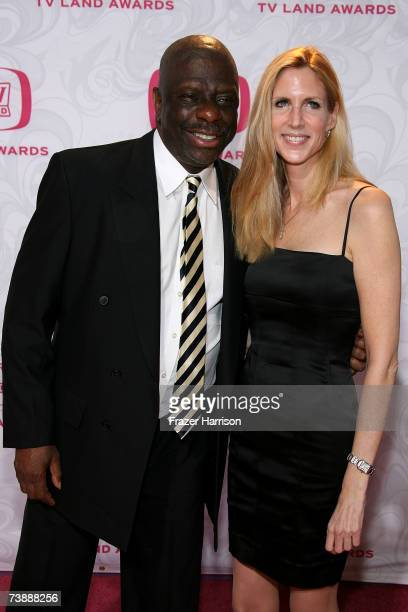 Actor Jimmie Walker and conservative pundit Anne Coulter arrives at the 5th Annual TV Land Awards held at Barker Hangar on April 14 2007 in Santa...