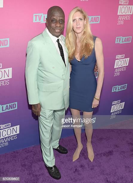 Actor Jimmie Walker and political commentator Ann Coulter attend 2016 TV Land Icon Awards at The Barker Hanger on April 10 2016 in Santa Monica...