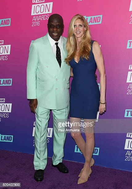 Actor Jimmie Walker and TV Personality Ann Coulter attend the TV Land Icon Awards at The Barker Hanger on April 10 2016 in Santa Monica California