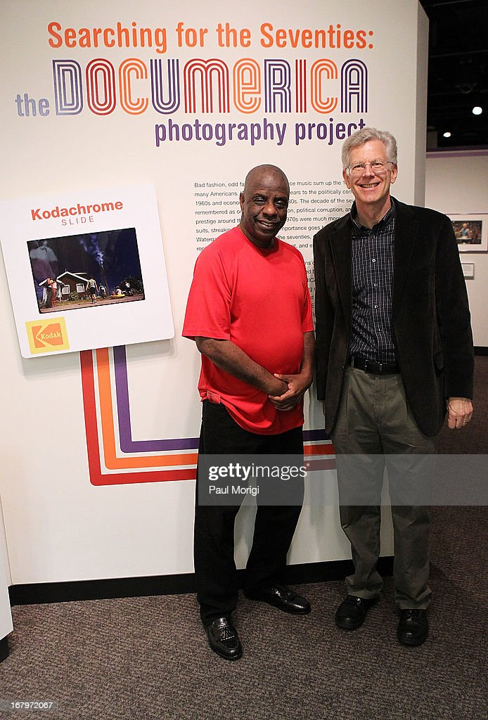 Actor <a gi-track='captionPersonalityLinkClicked' href=/galleries/search?phrase=Jimmie+Walker+-+Actor&family=editorial&specificpeople=650111 ng-click='$event.stopPropagation()'>Jimmie Walker</a> (L) poses for a photo with National Archives Senior Curator Bruce Bustard at discussion of the book 'Dynomite! Good Times, Bad Times, Our Times - A Memoir' at McGowan Theater on May 3, 2013 in Washington, DC.