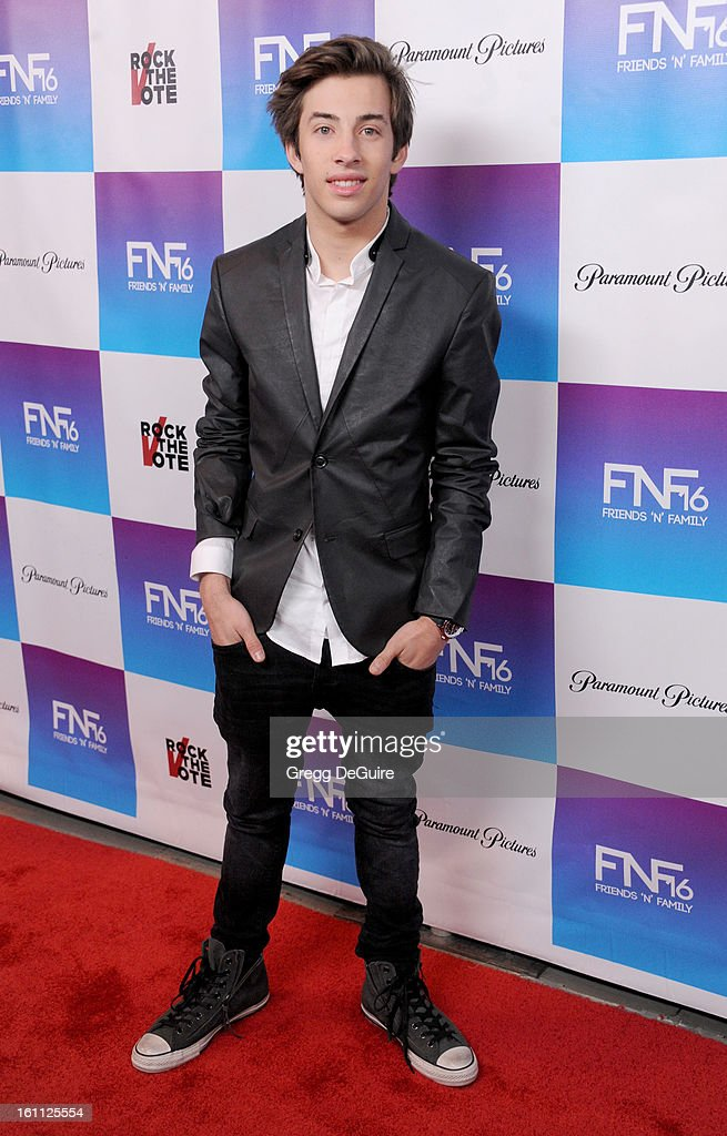 Actor Jimmy Bennett arrives at The Grammy Awards: Friends 'N' Family party at Paramount Studios on February 8, 2013 in Hollywood, California.