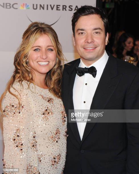 Actor Jimmy Fallon and wife producer Nancy Juvonen arrives at NBC Universal's 68th Annual Golden Globes After Party at The Beverly Hilton Hotel on...