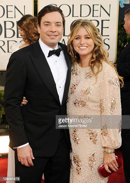 Actor Jimmy Fallon and wife producer Nancy Juvonen arrives at the 68th Annual Golden Globe Awards held at The Beverly Hilton hotel on January 16 2011...
