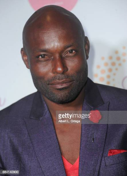 Actor Jimmy Jean Louis at Sai Suman's Official Hollywood Runway Fashion Show held at Sofitel Hotel on April 11 2017 in Los Angeles California