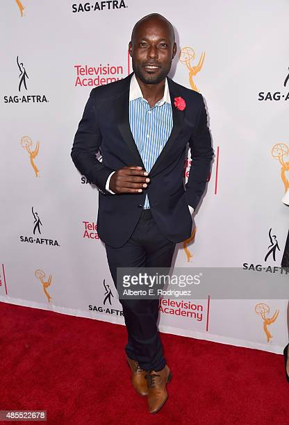 Actor Jimmy JeanLouis attends a cocktail party celebrating dynamic and diverse nominees for the 67th Emmy Awards hosted by the Academy of Television...