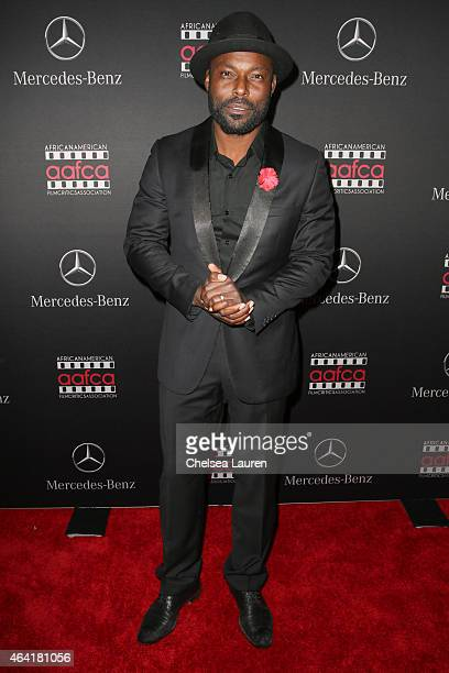 Actor Jimmy JeanLouis attends MercedesBenz USA and African American Film Critics Association Academy Awards viewing party on February 22 2015 in Los...