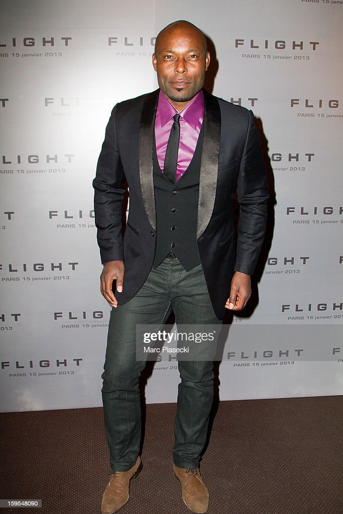 Actor Jimmy Jean-Louis attends the 'Flight' Paris Premiere at Cinema Gaumont Marignan on January 15, 2013 in Paris, France.