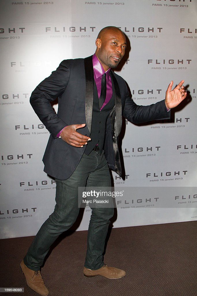Actor <a gi-track='captionPersonalityLinkClicked' href=/galleries/search?phrase=Jimmy+Jean-Louis&family=editorial&specificpeople=705397 ng-click='$event.stopPropagation()'>Jimmy Jean-Louis</a> attends the 'Flight' Paris Premiere at Cinema Gaumont Marignan on January 15, 2013 in Paris, France.