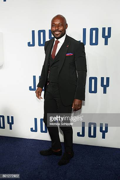Actor Jimmy JeanLouis attends the 'Joy' New York premiere at Ziegfeld Theater on December 13 2015 in New York City