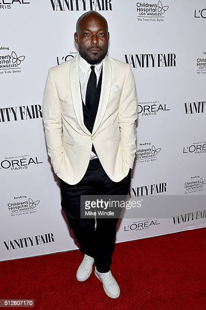 Actor Jimmy JeanLouis attends Vanity Fair L'Oreal Paris Hailee Steinfeld host DJ Night at Palihouse Holloway on February 26 2016 in West Hollywood...