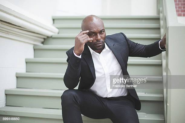 Actor Jimmy JeanLouis is photographed for Self Assignment on September 5 2016 in Deauville France