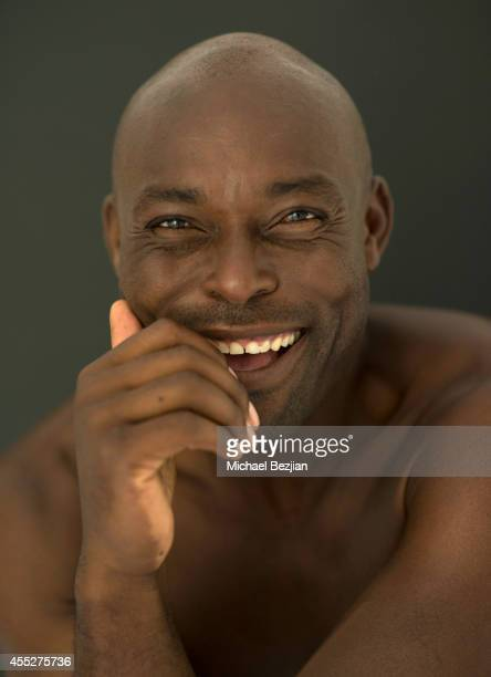 Actor Jimmy JeanLouis poses in support of The Starving Artists Project on September 11 2014 in Los Angeles California