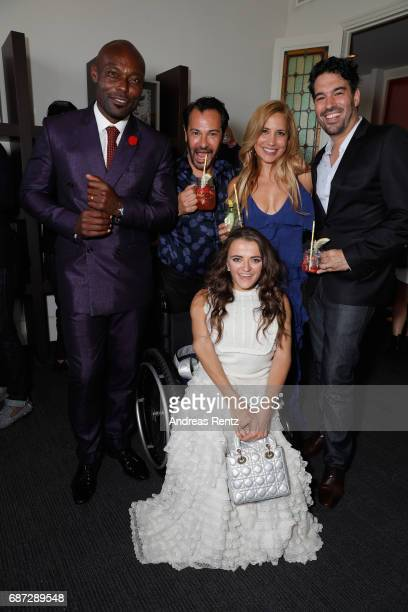 Actor Jimmy JeanLouis with Ricardo Rojas Daya Fernandez Jim Mannino and Leopoldine Huyghues Despointes attend the Artists for Peace and Justice...