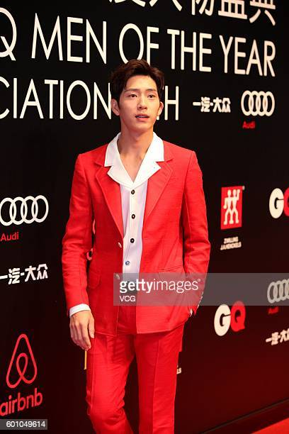 Actor Jing Boran arrives at red carpet of the 2016 GQ Awards on September 8 2016 in Shanghai China