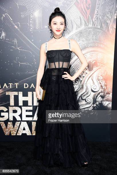 Actor Jing Tian attends the premiere of Universal Pictures' 'The Great Wall' at TCL Chinese Theatre IMAX on February 15 2017 in Hollywood California