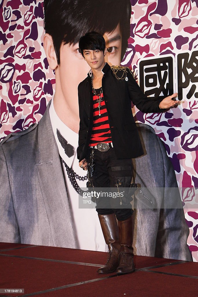 Actor Jiro Wang celebrates his 31th birthday with fans on Saturday August 24,2013 in Taipei,China.