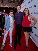 Actor JJ Totah Writer/Director Chris Kelly and Actress Molly Shannon arrive at the 2016 Outfest Los Angeles Closing Night Gala Of 'Other People' at...