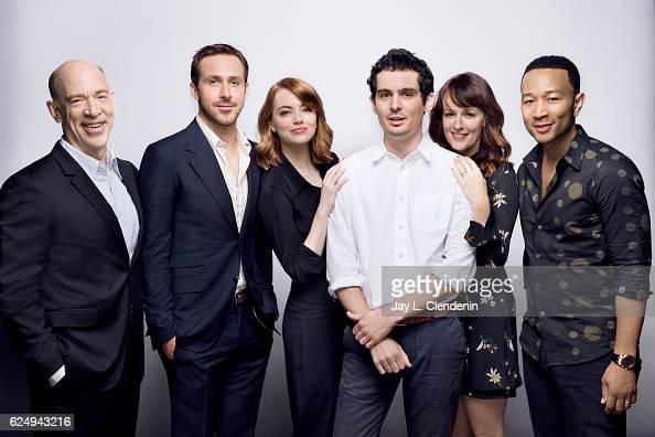 Actor JK Simmons actor Ryan Gosling director Damien Chazelle actress Emma Stone actress Rosemarie DeWitt and Grammyaward winning musician John Legend...