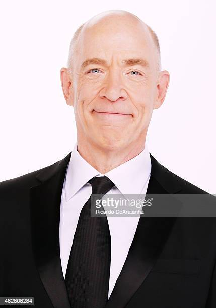Actor JK Simmons is photographed for Los Angeles Times at the 21st Annual Screen Actors Guild Awards on January 26 2015 in Los Angeles California...