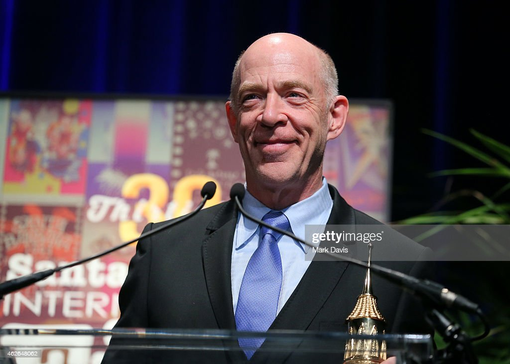 Actor JK Simmons receives the Virtuosos Award at the 30th Santa Barbara International Film Festival at the Arlington Theater on February 1 2015 in...