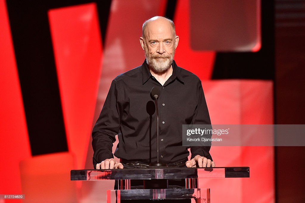 Actor J.K. Simmons speaks onstage during the 2016 Film Independent Spirit Awards on February 27, 2016 in Santa Monica, California.