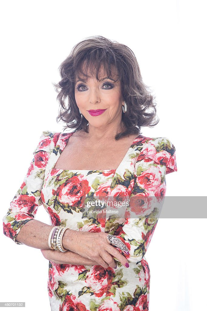 Actor Joan Collins is photographed in Cannes, France.