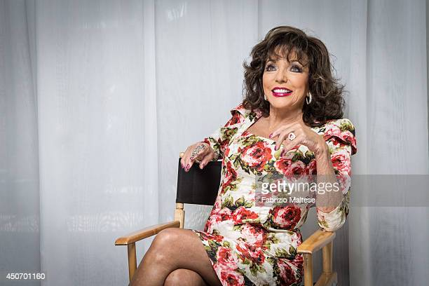 Actor Joan Collins is photographed in Cannes France